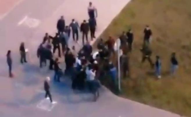 В Краснолесье несколько десятков человек устроили массовую драку: видео