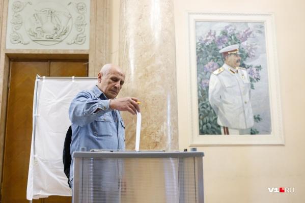 Большая часть голосующих в Волгограде 1 июля — это пенсионеры
