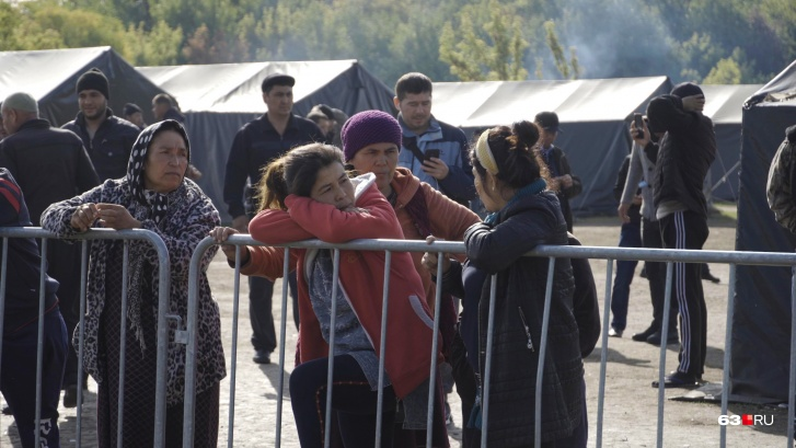 В лагере есть и женщины