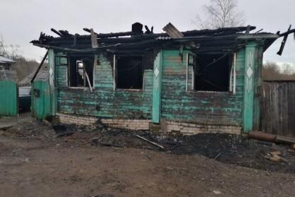 Дом сгорел за минуты