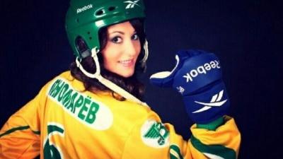 Болельщица «Водника» из Архангельска участвует в фотоконкурсе «Мисс Русский Хоккей»