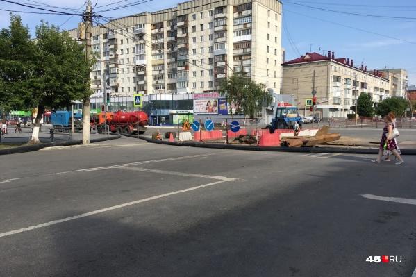 Улицу Пролетарскую перекрывают регулярно