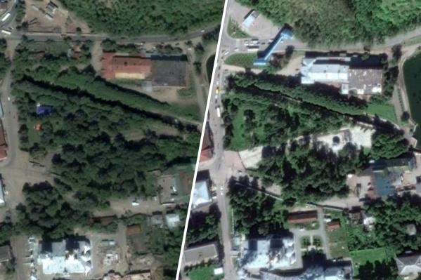 На фотографиях разница в 15 лет и новые постройки