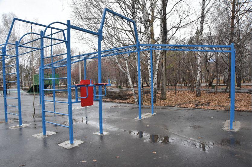 В парке теперь удобно заниматься спортом