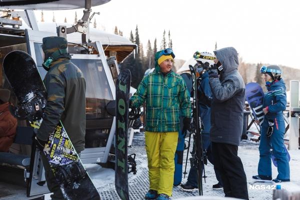 В Шерегеше открыли горнолыжный сезон 14 ноября