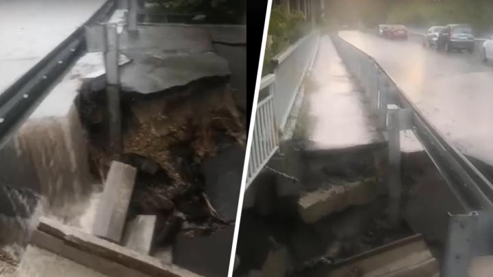 Спасатели эвакуировали людей с дублера Текучевского моста: его разрушил ростовский ливень