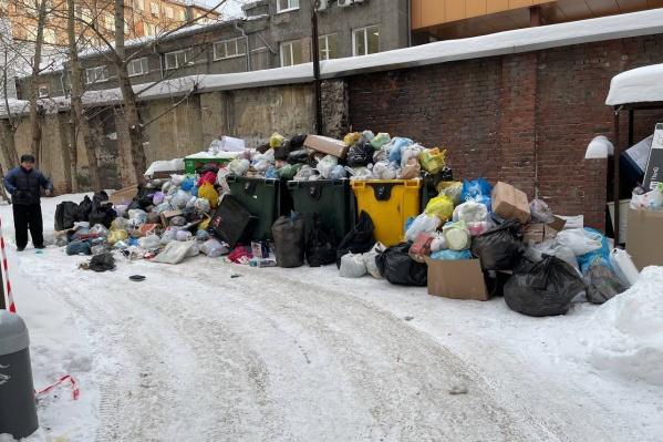 Трудности с вывозом мусора возникли в Центральном районе
