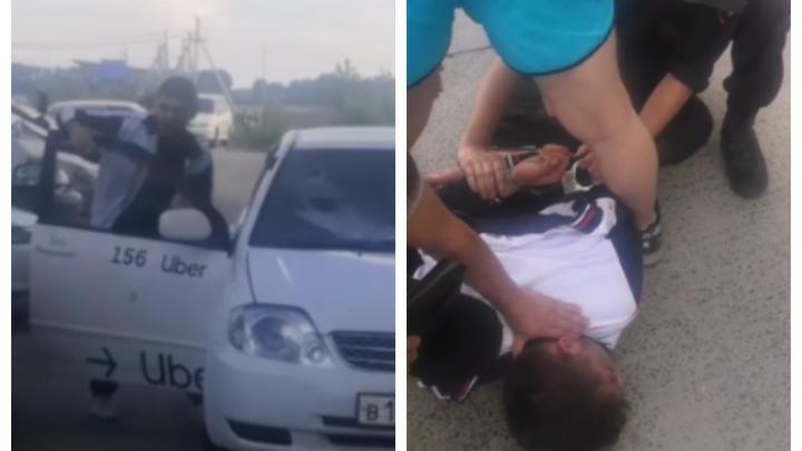 В Кировском районе новосибирец избил таксиста и повредил его автомобиль — конфликт попал на видео