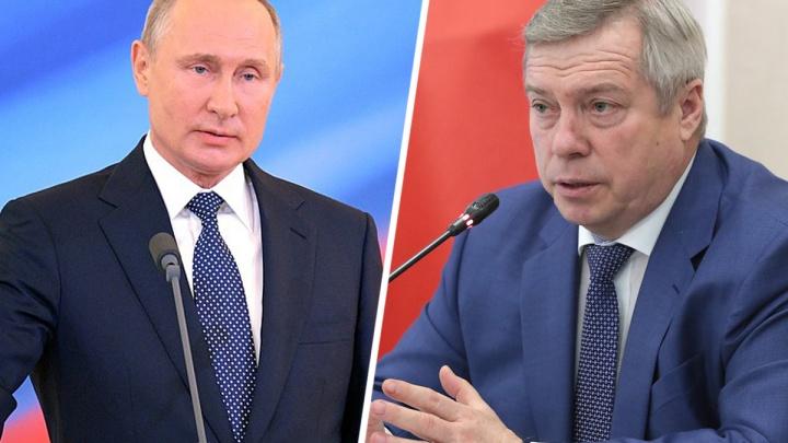 Путин — Голубеву: меня беспокоит снижение сельхозпроизводства в Ростовской области