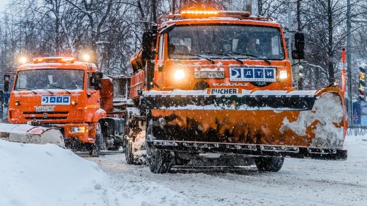 В Перми будут активнее чистить улицы во время снегопада и ледяного дождя