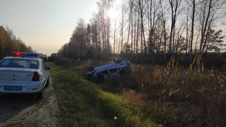 Под Выксой перевернулся автомобиль. Пострадали пятеро подростков