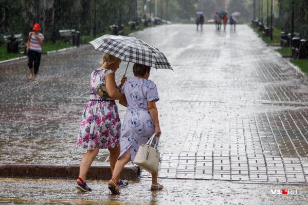 В субботу Волгограду обещают пасмурную, дождливую и прохладную погоду
