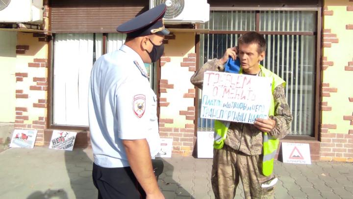 Против «Платона» и коронавирусных штрафов: волгоградцы вышли на протесты