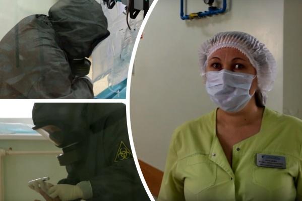 Медик из инфекционки Лариса Лебедева рассказала о работе своей и коллег, а также про уход за больными