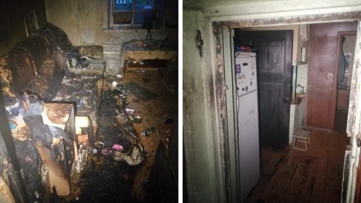 В Ленинском районе загорелся частный дом — в пожаре погибла женщина