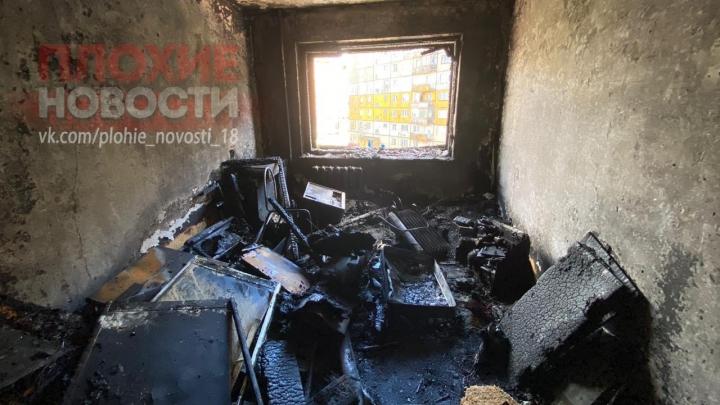 Мужчина выпрыгнул с четвёртого этажа, спасаясь от пожара, и погиб