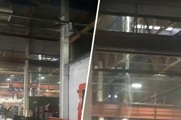 Крышу на заводе придется восстанавливать