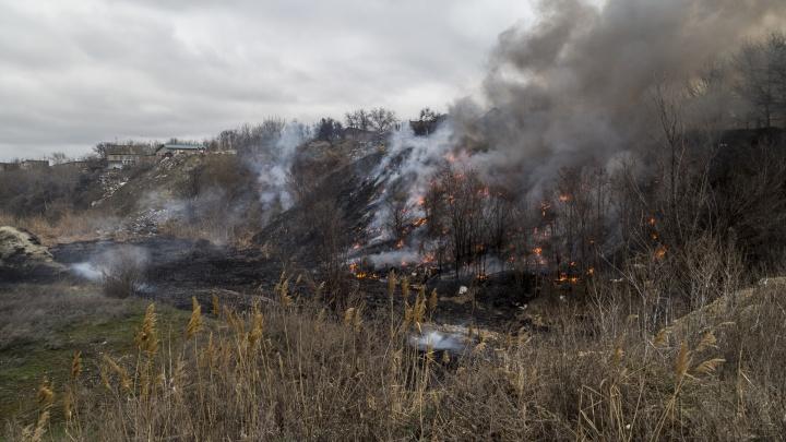 Жителям Красноармейского района Волгограда вновь угрожают горящие камыши