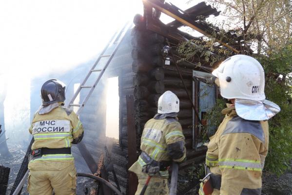 Пожар случился вечером 10 июля