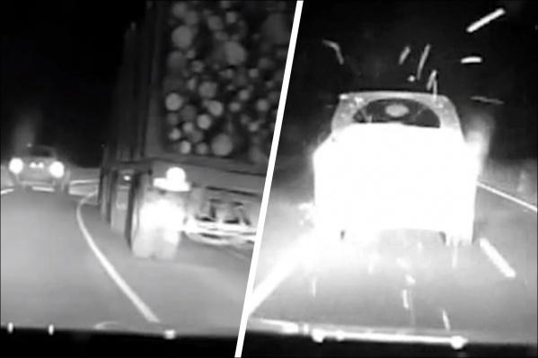 Автомобиль пытались остановить, но водитель только набирал скорость и шел на опасные обгоны
