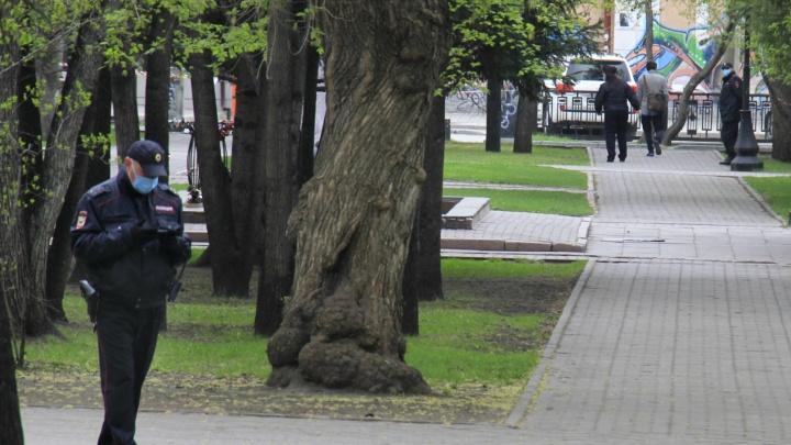 В новосибирских парках расставили полицейские наряды — публикуем 6 кадров из опустевших скверов