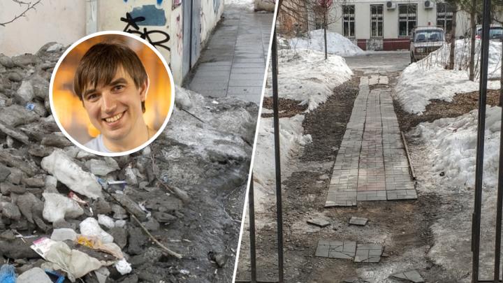 Екатеринбуржец — о весенней грязи: «Тротуары — полоса препятствий с элементами русской рулетки»