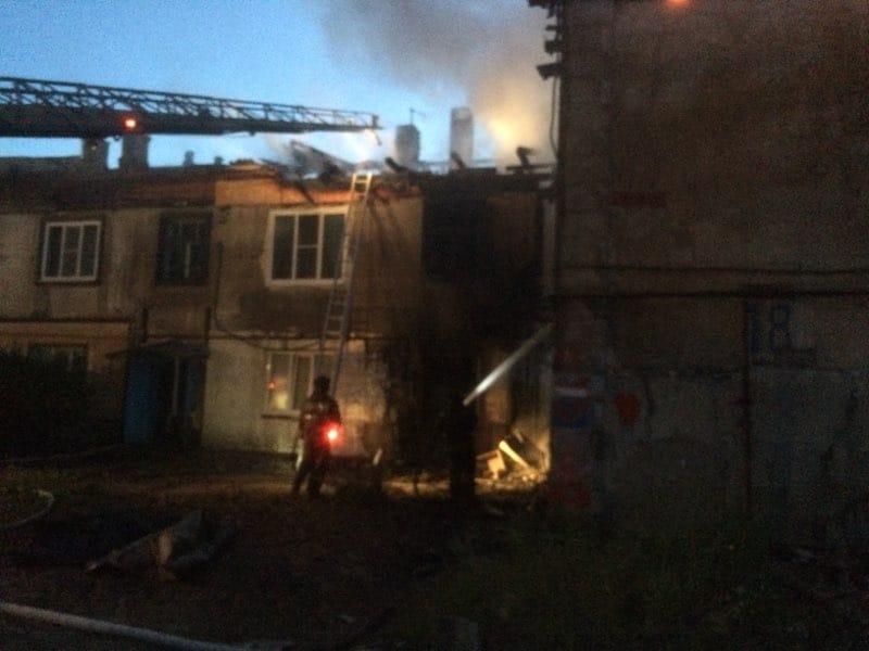 На месте происшествия работали почти полсотни пожарных