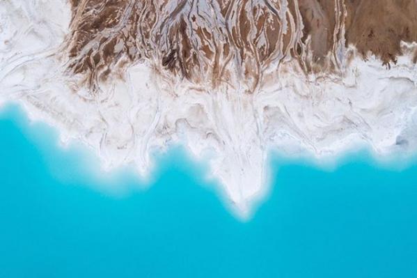 С высоты знаменитые новосибирские «Мальдивы» выглядят особенно впечатляюще