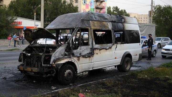 «Огонь начал быстро распространяться»: в Волгограде водитель сгоревшей маршрутки рассказал о пожаре