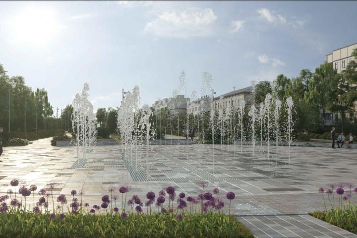 Вот такой фонтан должен украсить новенький сквер