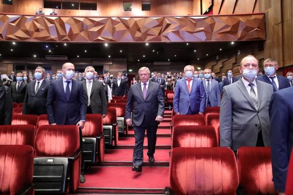 Василий Голубев на церемонии инаугурации