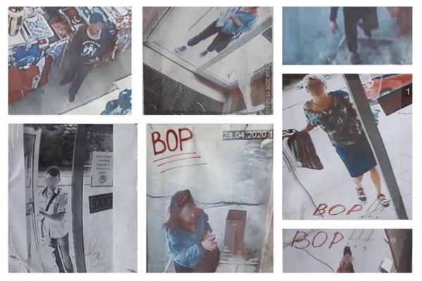 Снимки появились в тамбуре на входе в магазин «Семейка»
