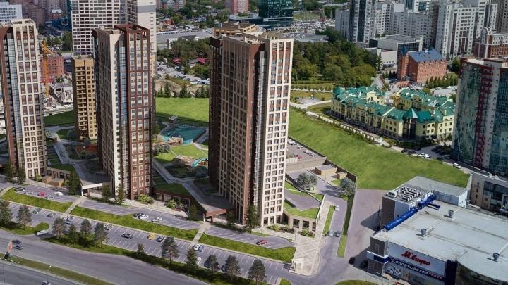 Рядом с метро строят необычный жилой комплекс, здесь высадят можжевеловые аллеи и поставят беседки во дворе