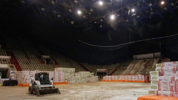 У СКК имени Блинова разобрали крышу для ремонта