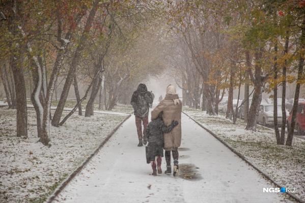 В город вернулся снежный буран