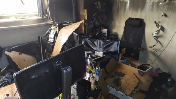 В здании ЮУрГУ в Челябинске произошёл пожар