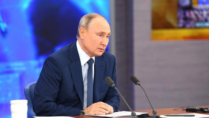 «Я законопослушный»: в Новосибирске Владимира Путина спросили, привился ли он от коронавируса