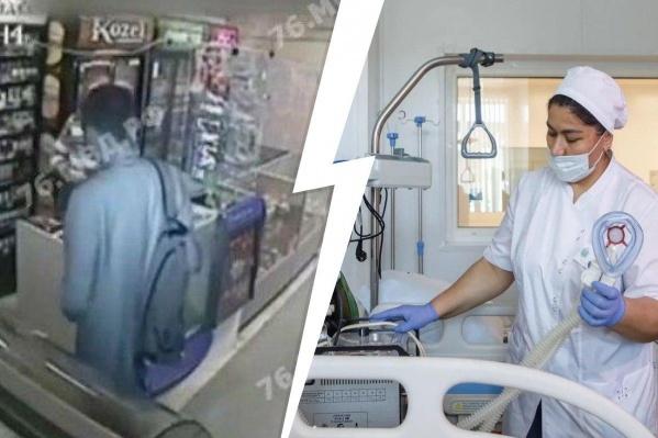 Грабителя магазина полицейским удалось задержать, а вот медикамспасти больного коронавирусом не удалось