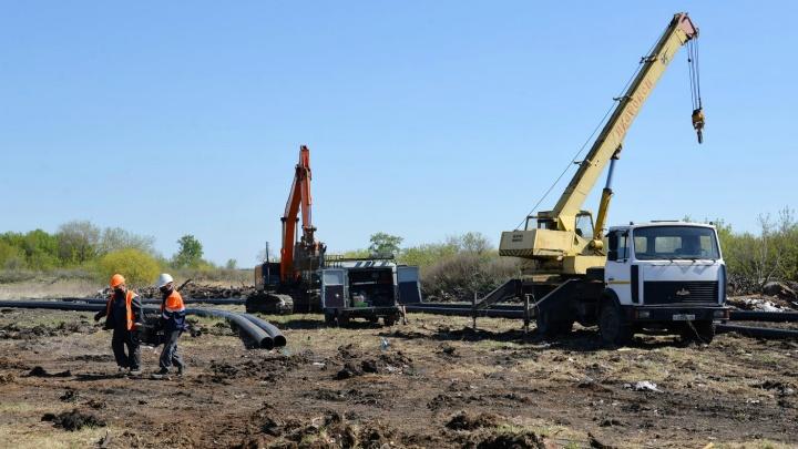 В Восточном районе Кургана начали строить систему водоотведения