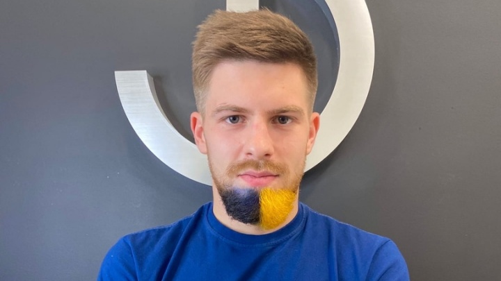 Полузащитник «Ростова» Глебов покрасил бороду в цвета клуба