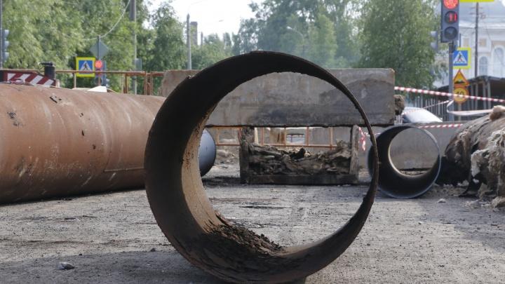 В Архангельские устранили все дефекты на сетях горячего водоснабжения