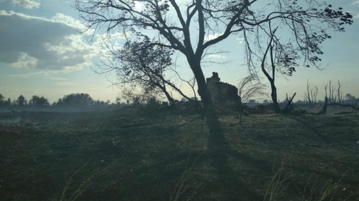 Всё это время жили на генераторах: в выгоревший в начале июля хутор в Волгоградской области вернули свет