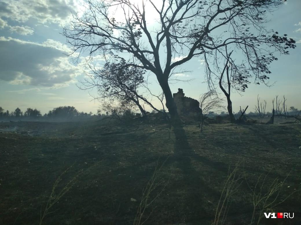 От домов остались лишь руины