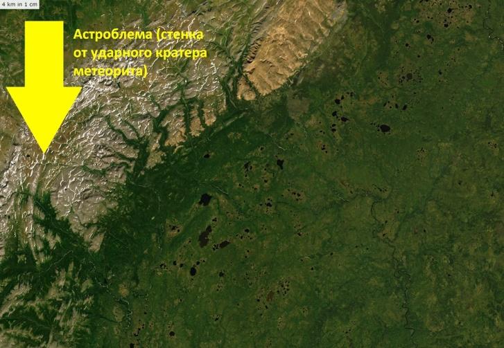 Пирамида расположена на территории Народо-Итьинского кряжа, на астроблеме