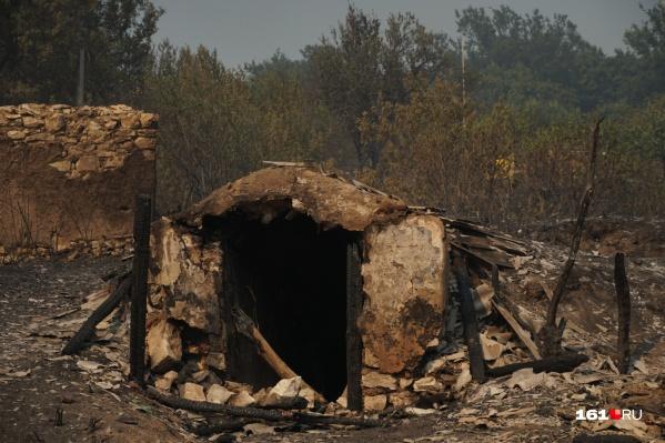 Некоторые постройки сожжены дотла