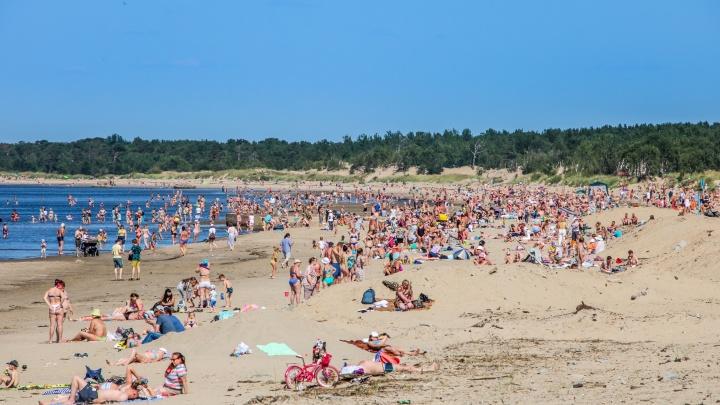 Почти южный курорт: как выглядят пляжи в жару на острове Ягры