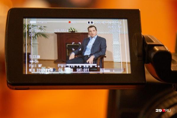 Исторический момент. Это первое интервью Александра Цыбульского в статусе врио губернатора Архангельской области