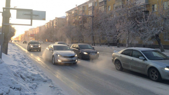 ГИБДД Курганской области выступила с обращением к водителям из-за морозов