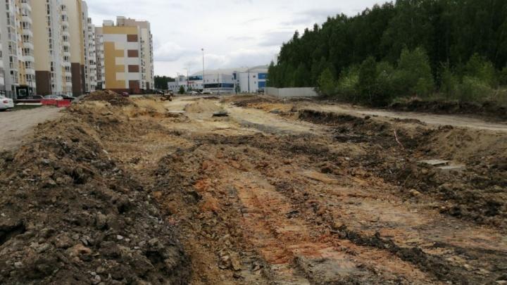 В Челябинске за 58 миллионов рублей построят дорогу длиной 600 метров
