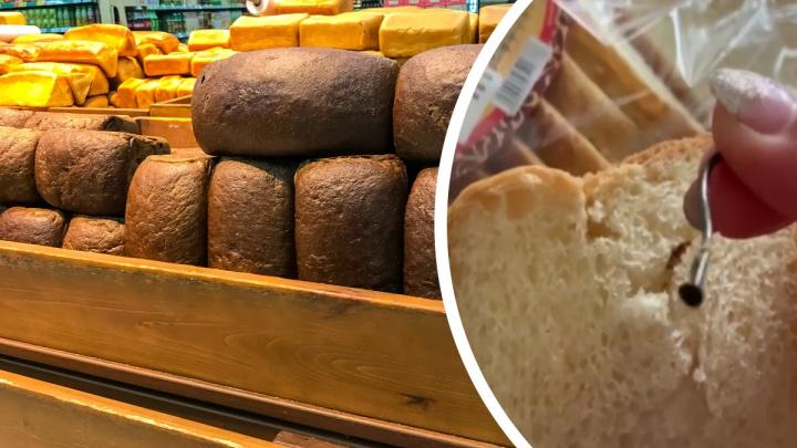 Жительница Минусинска нашла огромный гвоздь в булке хлеба для тостов. Видео